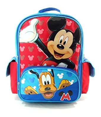 "Disney - Mickey Mouse Large 16"" Backpack - Hide & Seek with Pluto"