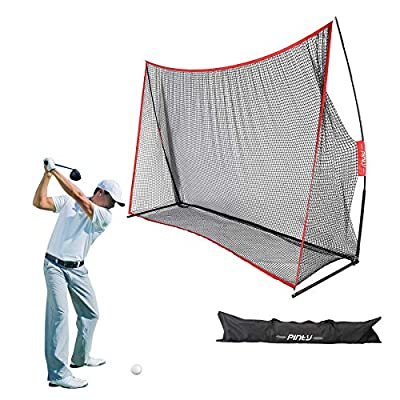 Pinty Golf Net 10x7ft, Portable Golf Practice Hitting Net for Indoor and Outdoor Hitting Practice/Golf Net for Backyard Driving with Carrying Bag