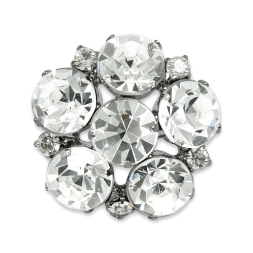 Expo Rhinestone Rosette Button ()