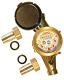 Assured Automation WM-NLC Series Lead Free Brass Water Meter 3/4""
