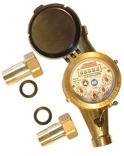 - Assured Automation WM-NLC Series Lead Free Brass Water Meter 3/4