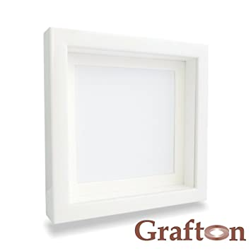white shadow box frame 3d frame square deep frame wooden frame wall