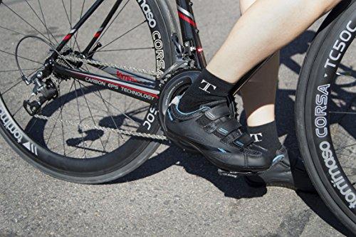 Tommaso Pista Da Donna Bici Da Strada Ciclismo Spin Shoe Doppia Compatibilità Tacchetta Nera / Blu