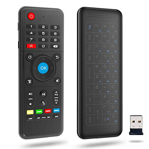 Mini Wireless Keyboard with Air Remote - VIDEN 2.4Ghz Wireless Touchpad...
