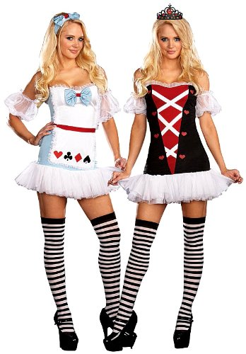 DreamGirl Women's Reversible Alice In Wonderland/Queen Of Hearts Costume Dreamgirl Costumes 5975