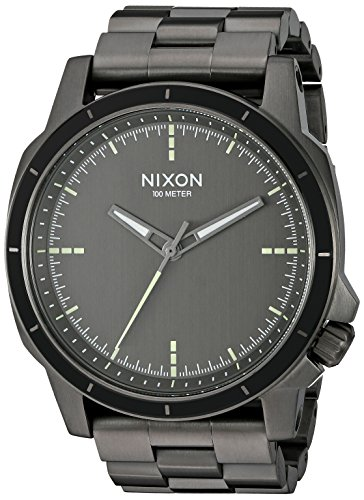 Nixon Men's 'Ranger Ops' Quartz Stainless Steel Automatic Watch, Color:Grey (Model: A913632-00)
