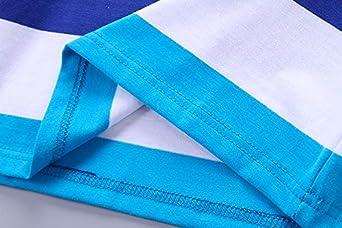 Camiseta de manga larga de algod/ón para ni/ños 3-14 a/ños Coralup
