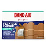 #5: Band-Aid Brand Flexible Fabric Adhesive Bandages For Minor Wound Care, Assorted Sizes, 100 Count