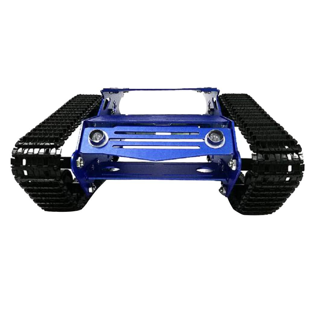 12V Motor mit Code Rad B Blesiya Stoßdämpfung Panzer Modell Bausatz inkl. Chassis + Motor + Räder + andere Zubehör, DIY RC und Intelligentes Spielzeug - 12V Motor mit Code Rad