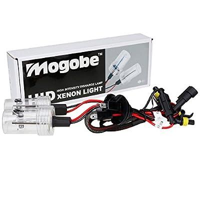 Mogobe 2 pcs Xenon HID Headlight Replacement Bulbs Lights