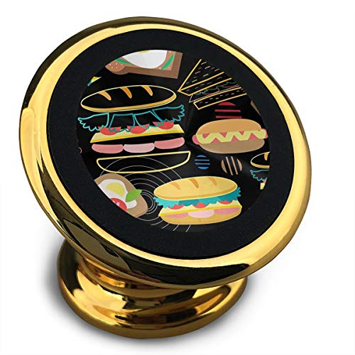 FISHISOK Magnetic Car Phone Mount Holder Hamburgers and Fried Eggs Deluxe Car Mobile Bracket 360 Degrees Rotation from Dashboard Compatible with iPhone Samsung,etc