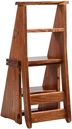 TZ-DZC Taburete Escalera Doble Escalera Plegable Silla Escalera Estantería con Dos sillas para computadora Ascend Banco de Madera Maciza (Color : A): Amazon.es: Hogar