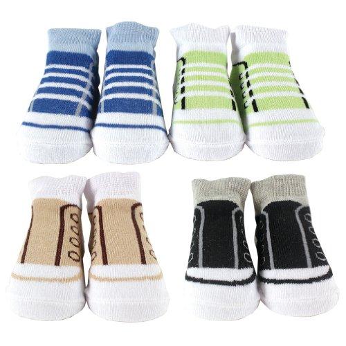 Luvable Friends 4-Piece Boy Novelty Socks Gift Set, Blue