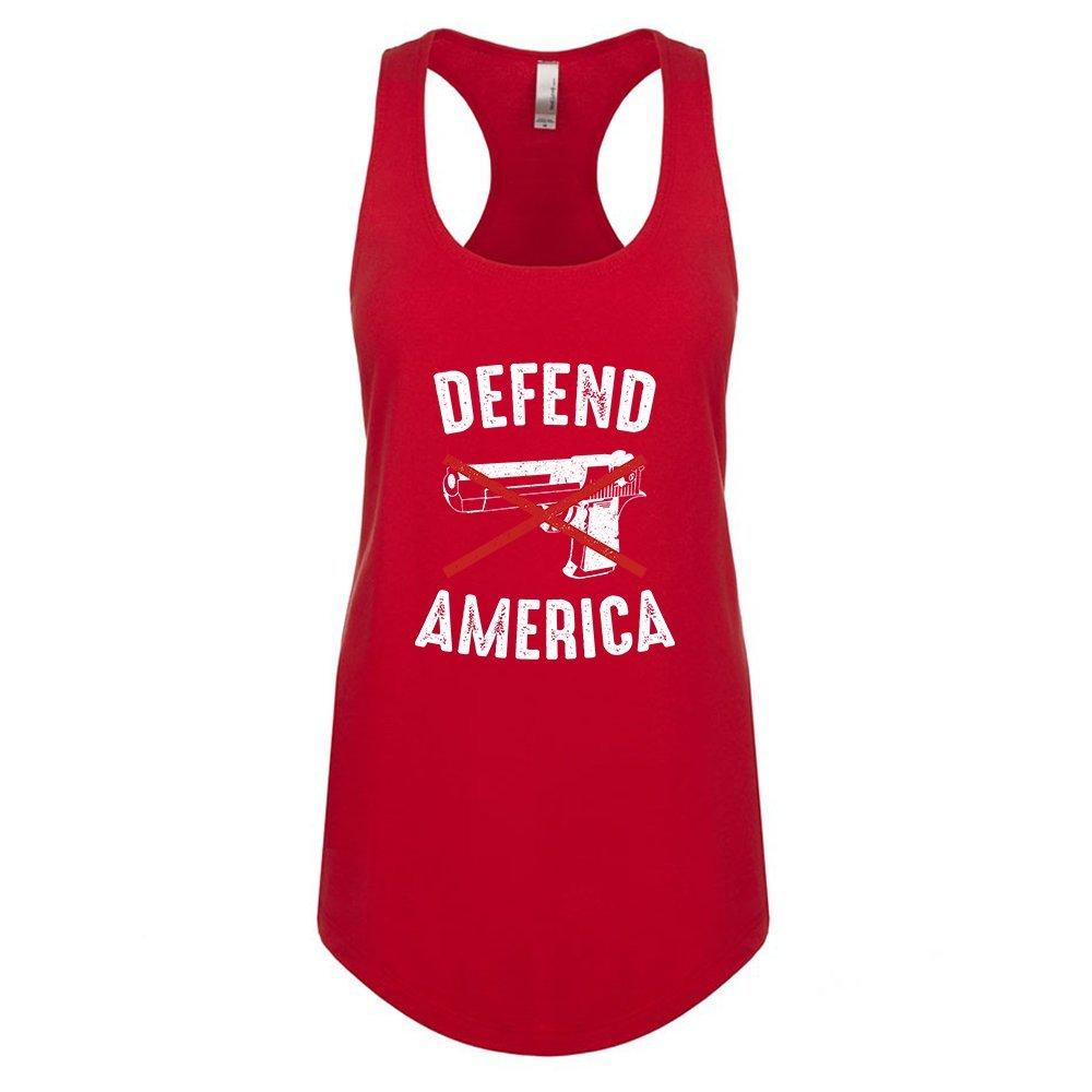 Mad Over Shirts Defend America Unisex Premium Racerback Tank top