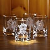 Personalized Rocks Glass, Whiskey, Scotch, Bourbon Glasses SET OF 4 (M30) Review