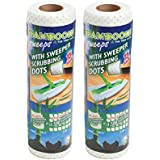Bambooee Reusable Bamboo Sweeper Sheets with Sweeper Scrubbing Dots (2)