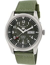 Seiko Men's 5 Automatic SNZG09K Green Nylon Automatic Watch