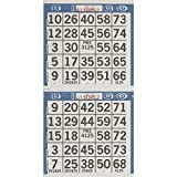 "Amscan 255571 Bingo Game Sheets, As Shown, 8"" x 4"" 125ct"