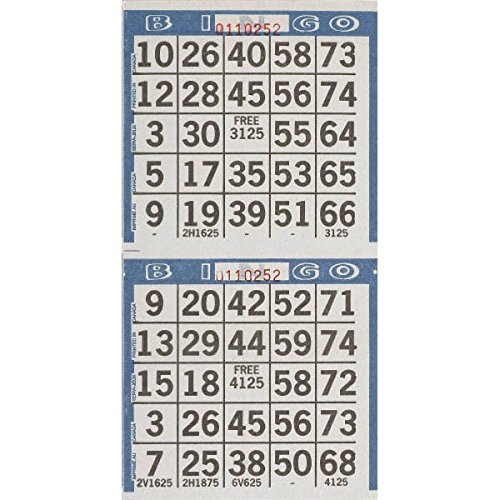 Amscan 255571 Bingo Game Sheet Embellishment, 4-Inch x 8-Inch, 125-Pack (Bingo Sheets Game)