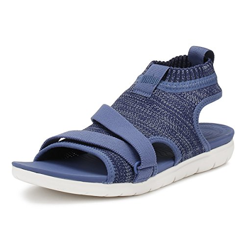 FitFlop Womens Uberknit Back Strap Sandals Indian Blue/Powder Blue