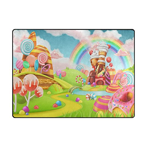ALAZA My Daily Sweet Candy Land Cartoon Area Rug 4' x 5'3