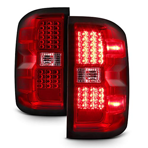ACANII - For Red 2014 2015 2016 2017 Chevy Silverado 1500 LED Tail Lights 14-17 Brake Lamps