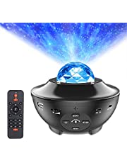 Star Projector Night Light, ALED LIGHT 2-in-1 Ocean Wave LED Starry Night Light Projector Built-in Bluetooth Speaker Sound Sensor for Baby Children's Bedroom, Home Decoration, Game Rooms