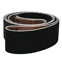 "VSM 202196 Abrasive Belt, Fine Grade, Cloth Backing, Silicon Carbide, 320 Grit, 1/2"" Width, 18"" Length, Black (Pack of 20)"