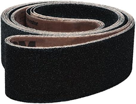 Black Silicon Carbide Fine Grade Pack of 10 4 Width 106 Length VSM Abrasives Co. 106 Length 180 Grit 4 Width Cloth Backing VSM 23320 Abrasive Belt