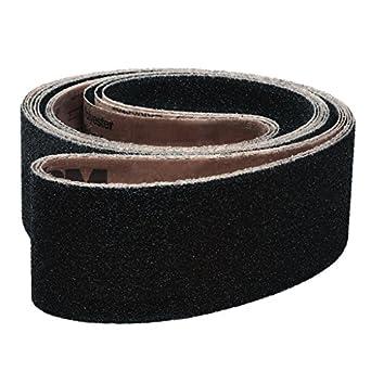 Silicon Carbide Cloth Backing VSM 226538 Abrasive Belt 220 Grit 24 Length 4 Width Fine Grade 4 Width 24 Length VSM Abrasives Co. Black Pack of 10