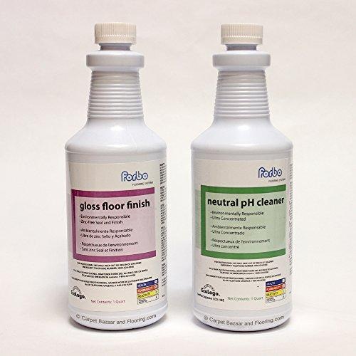 Forbo Marmoleum Linoleum Floor Cleaner (Quart) and Marmoleum Gloss Floor Finish (Quart) - Marmoleum Care Set from iDecor