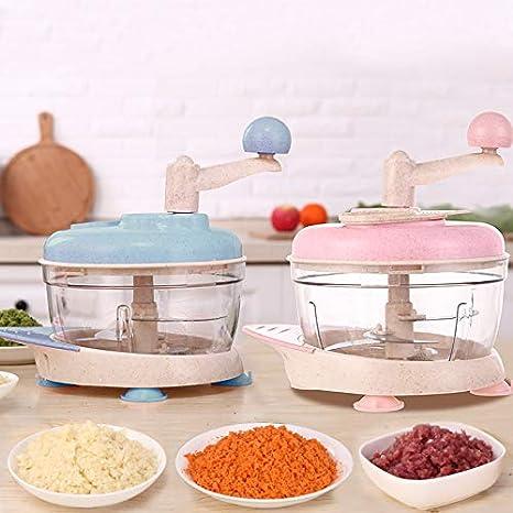 Picadora de carne manual Paja de trigo Trituradora manual de carne Trituradora Máquina de cocción multifunción Máquina de relleno para sen: Amazon.es: Hogar