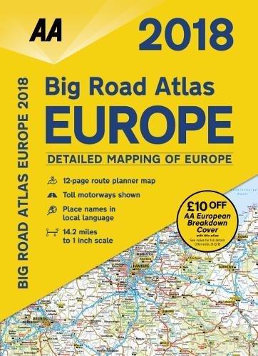2018 Big Road Atlas Europe