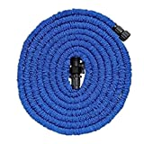 Speedcontrol 50 Feet New Arrival Garden Hose Watering Hose, Portable, Adjustable, High Pressure-Resistance, And Durable Quality-Assured Garden Watering Hose Blue