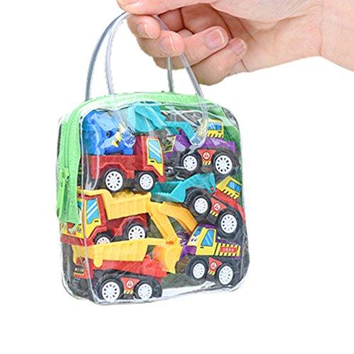 (❤Ywoow❤❤ , Children Simulate Educational Trailer Toy Inertia Truck Kids Race Car Set 6PCS)