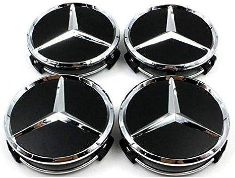 FORTEN CAR x4/Bouchons Enjoliveur 75/mm Logo Mercedes AMG/ /Clous Cercles Alliage /Classe A B C et CLK CLA m ML s/