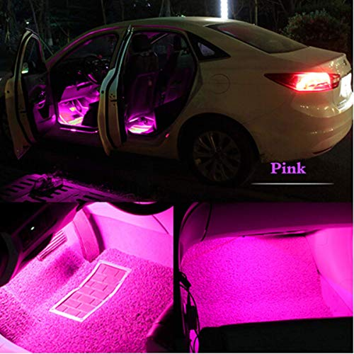 automotive, lights & lighting accessories, accent & off road lighting, led & neon lights,  neon accent lights  image, HengJia Auto Parts LED Car Interior Floor Decorative Atmosphere Lights Strip Waterproof Glow Neon Interior Decoration Lamp?pink? deals2