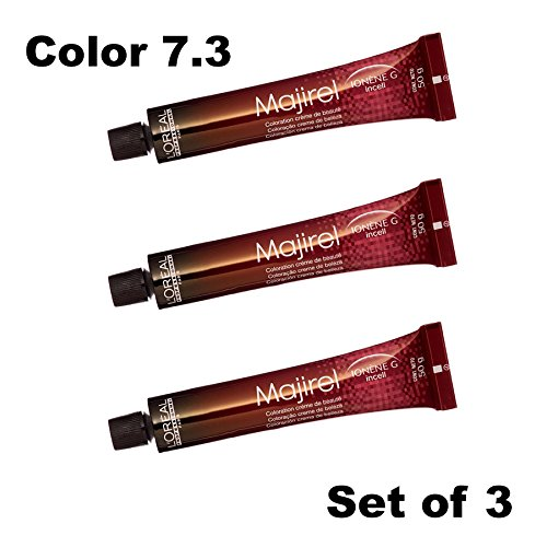 L'Oreal Professionnel Majirel Ionene G Incell 7.3, Pack of 3 tubes by L'Oreal Professionnel Majirel Ionene G Incell 7.3, Pack of 3 tubes (Image #1)