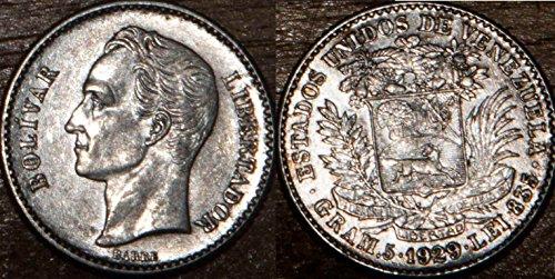 - 1929 - Venezuela 1929 Bolivar Silver Extra Fine + 1 Bolivar Seller Extra Fine +