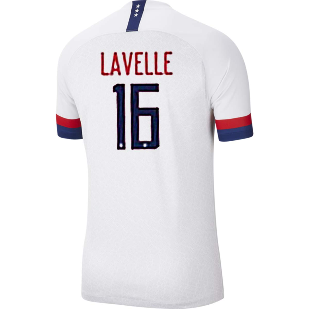 LVA Yum Mens Lavelle Jersey #16 2019 Womens World Cup Home Soccer Jersey Colour White