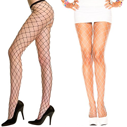 YPS Sexy Big Cross Fishnet Tights Seamless Nylon Large Mesh Stockings Hollow Out Pantyhose - Pantyhose Big Hole Fishnet