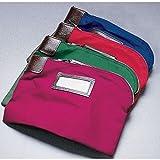 MMF Ind Navy Nylon/Cotton Self-Locking Deposit Bag - 11''L x 8 1/2''H