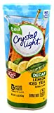 Crystal Light Lemon Decaf Iced Tea Natural Flavor Drink Mix, 12-Quart Canister (Pack of 22)