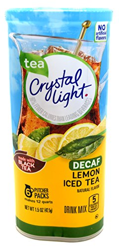 Crystal Light Lemon Decaf Iced Tea Natural Flavor Drink Mix, 12-Quart Canister (Pack of 22) by Crystal Light