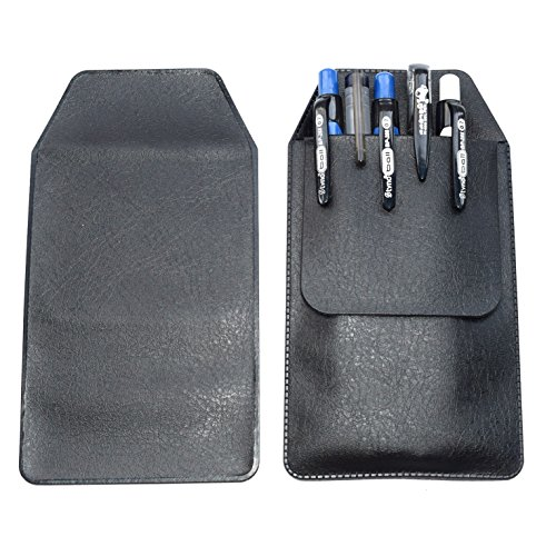 Leather pocket protector for pens