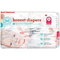Honest Diapers, Multi Colored Giraffes, Size N, 40 Count