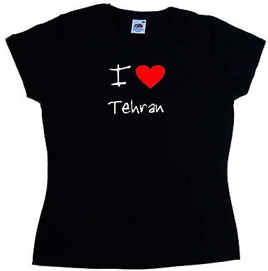 I Love Heart Tehran Ladies T-Shirt