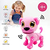 Yehtta Gifts for 3-8 Year Old Girls Robot Dog Toddler Interactive Toy Pet Autism Toys Electronic Toy Puppy Kids Gifts Pink
