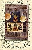 Meme's Quilt Designs Applique Pattern 277 Primitive Pineapples Penny Rug and Pillow