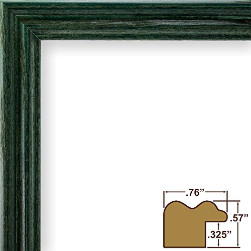 Craig Frames 200ASHGR 13 by 19-Inch Picture Frame, Wood Grain Finish, .75-Inch Wide, - Green Wood Grain